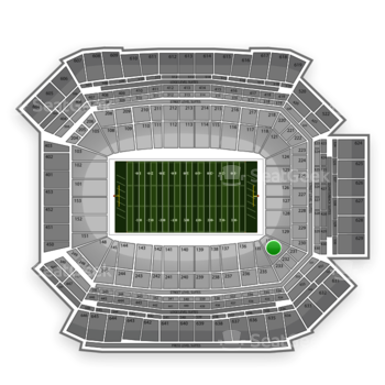 NFL at Lucas Oil Stadium Section 132 View