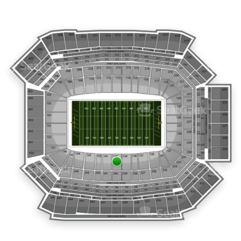 NFL at Lucas Oil Stadium Section 140 View