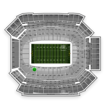 NFL at Lucas Oil Stadium Section 144 View
