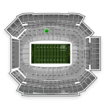 NFL at Lucas Oil Stadium Section 212 View