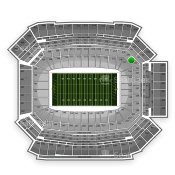 NFL at Lucas Oil Stadium Section 221 View