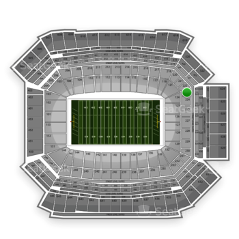NFL at Lucas Oil Stadium Section 223 View