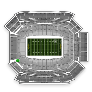NFL at Lucas Oil Stadium Section 249 View