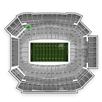 NFL at Lucas Oil Stadium Section 308 View