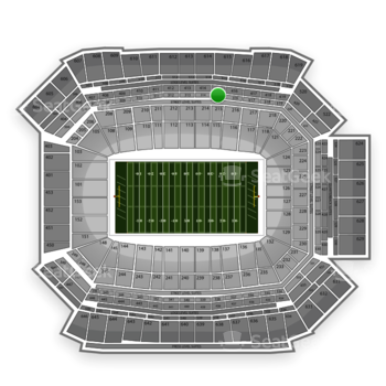 NFL at Lucas Oil Stadium Section 315 View