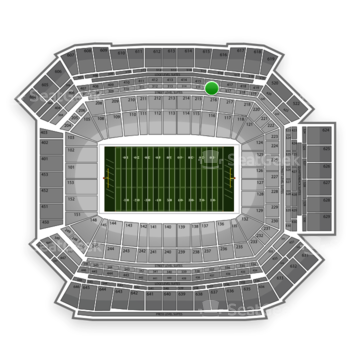 NFL at Lucas Oil Stadium Section 316 View