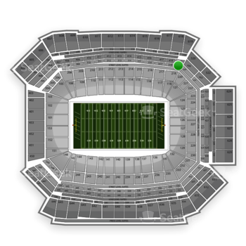 NFL at Lucas Oil Stadium Section 319 View