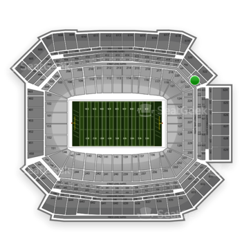 NFL at Lucas Oil Stadium Section 322 View
