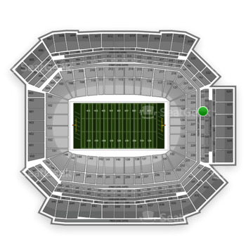 NFL at Lucas Oil Stadium Section 325 View