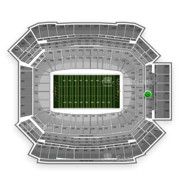 NFL at Lucas Oil Stadium Section 327 View