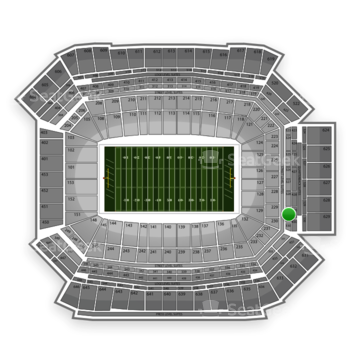 NFL at Lucas Oil Stadium Section 329 View