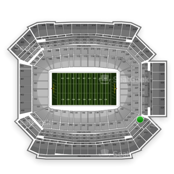NFL at Lucas Oil Stadium Section 331 View