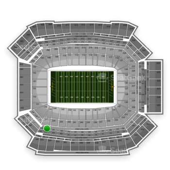 NFL at Lucas Oil Stadium Section 345 View