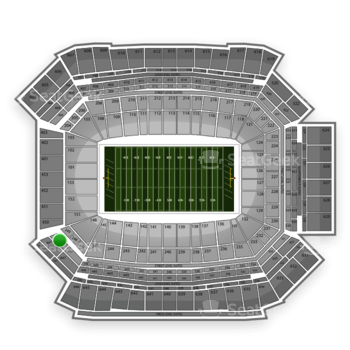 NFL at Lucas Oil Stadium Section 349 View