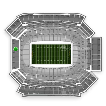 NFL at Lucas Oil Stadium Section 401 View