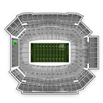 NFL at Lucas Oil Stadium Section 402 View