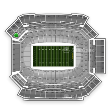 NFL at Lucas Oil Stadium Section 404 View