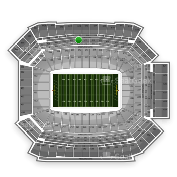NFL at Lucas Oil Stadium Section 412 View