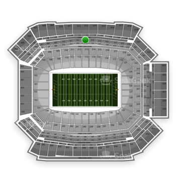 NFL at Lucas Oil Stadium Section 413 View