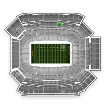 NFL at Lucas Oil Stadium Section 415 View