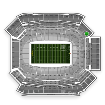 NFL at Lucas Oil Stadium Section 422 View