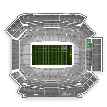 NFL at Lucas Oil Stadium Section 424 View