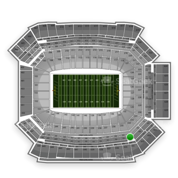 NFL at Lucas Oil Stadium Section 434 View