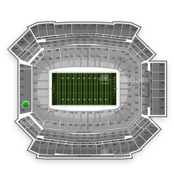 NFL at Lucas Oil Stadium Section 451 View
