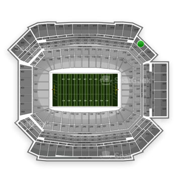 NFL at Lucas Oil Stadium Section 520 View