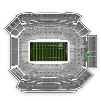 NFL at Lucas Oil Stadium Section 528 View