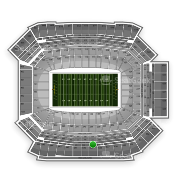 NFL at Lucas Oil Stadium Section 539 View
