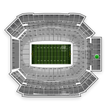 NFL at Lucas Oil Stadium Section 627 View
