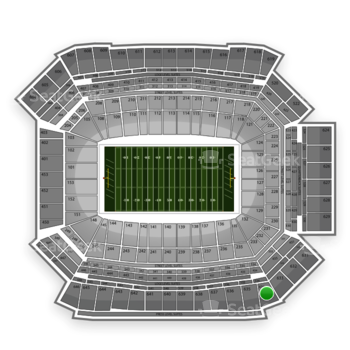 NFL at Lucas Oil Stadium Section 634 View