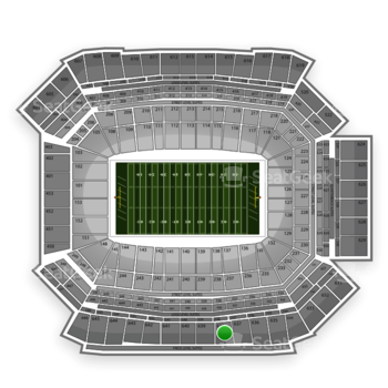 NFL at Lucas Oil Stadium Section 638 View