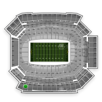 NFL at Lucas Oil Stadium Section 645 View