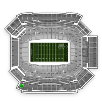 NFL at Lucas Oil Stadium Section 646 View