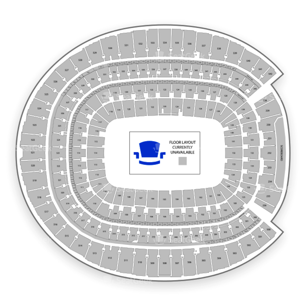Broncos Stadium at Mile High Seating Chart Concert