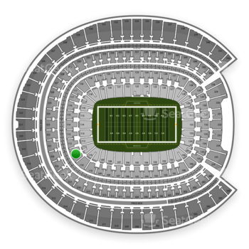 Denver Broncos at Sports Authority Field at Mile High Section 111 View