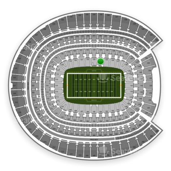 Denver Broncos at Sports Authority Field at Mile High Section 124 View