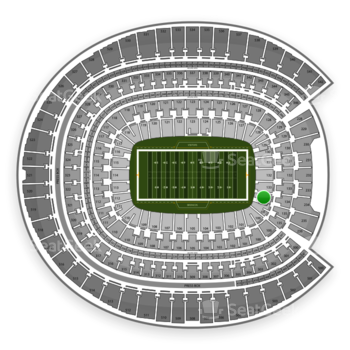 Denver Broncos at Sports Authority Field at Mile High Section 134 View