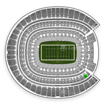 Denver Broncos at Sports Authority Field at Mile High Section 301 View