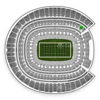 Denver Broncos at Sports Authority Field at Mile High Section 345 View
