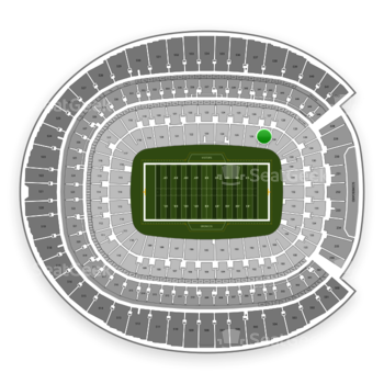 Denver Broncos at Sports Authority Field at Mile High Section 127 View