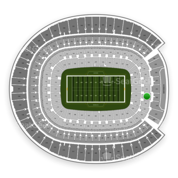 Denver Broncos at Sports Authority Field at Mile High Section 133 View