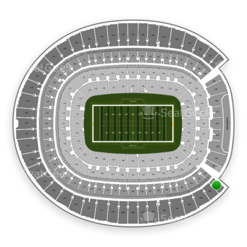 Denver Broncos at Sports Authority Field at Mile High Section 500 View