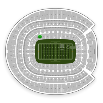 Denver Broncos at Sports Authority Field at Mile High Section 119 View