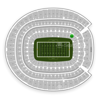 Denver Broncos at Sports Authority Field at Mile High Section 128 View