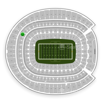 Denver Broncos at Sports Authority Field at Mile High Section 327 View