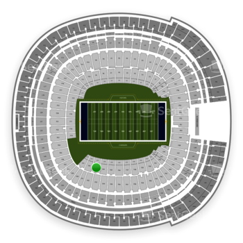 Los Angeles Chargers at SDCCU Stadium Field 33 View