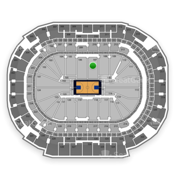 Dallas Mavericks at American Airlines Center Section 107 View
